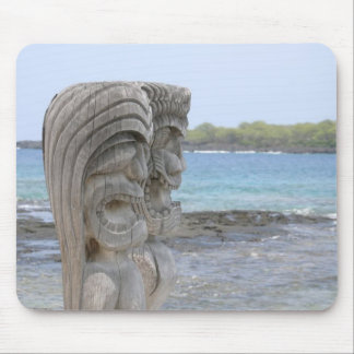 Tiki Wächter in Kona, Hawaii - Mousepad