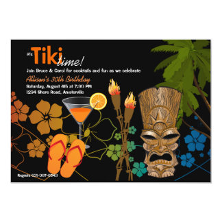 Tiki Zeit-Party Einladung
