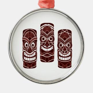 Tiki Zeit Silbernes Ornament