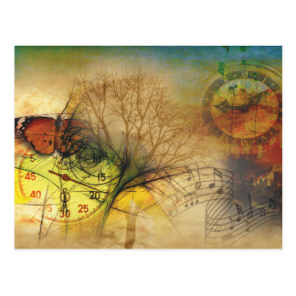 Time and music postkarte