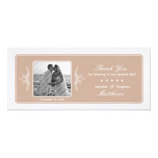 Timeless Charme-Hochzeits-Foto danken Ihnen - Düne 10,2 X 23,5 Cm Einladungskarte