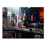 Times Squarepostkarte Postkarte