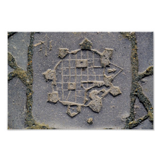 Timisoara Rumänien Zitadellen-Karten-Pflasterstein Poster
