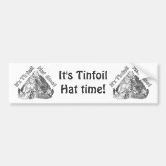 Tinfoil-Hut-Zeit Autoaufkleber