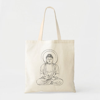 Tinte barmherziger Buddha Tragetasche