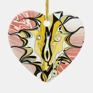 Tinte und Rosa Keramik Herz-Ornament