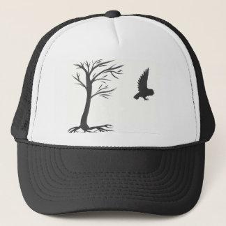 Tinten-Eule und Baum Truckerkappe