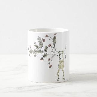 Tinten-Farben-Wiederholungs-Frosch Kaffeetasse