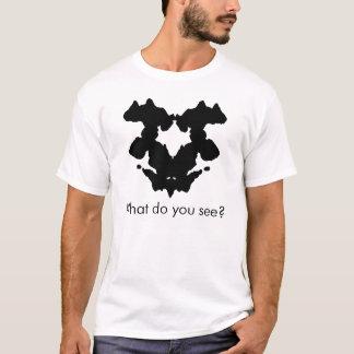 Tinten-Fleck-Test T-Shirt