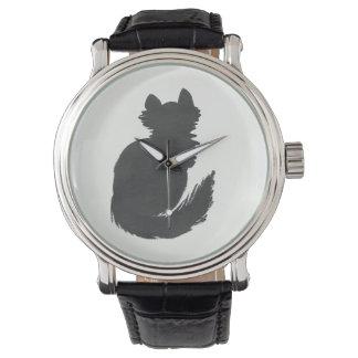 Tinten-Kätzchen Armbanduhr