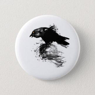 Tinten-Rabe Runder Button 5,7 Cm