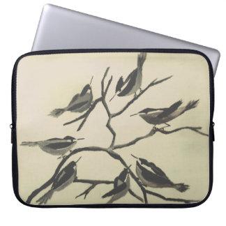 Tinten-Vögel Laptopschutzhülle