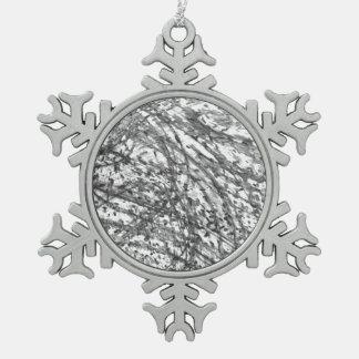 Tinten-Wäsche-Zinn-Schneeflocke-Verzierung Schneeflocken Zinn-Ornament