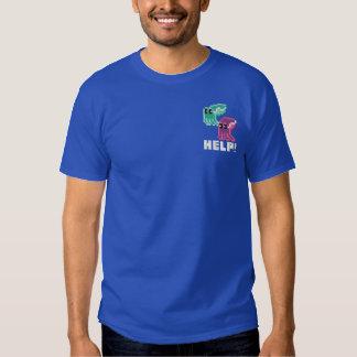 Tintenfisch-Kohlenkübel! Niedliches Besticktes T-Shirt