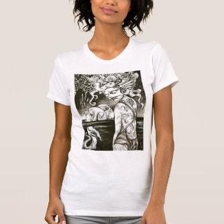 Tintenfisch-Mädchen T-Shirt