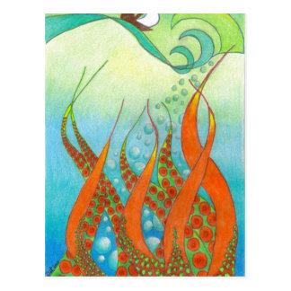 Tintenfischprodukte Postkarte