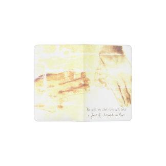 Tintenzeichnen und Da- Vincizitattaschennotizbuch Moleskine Taschennotizbuch