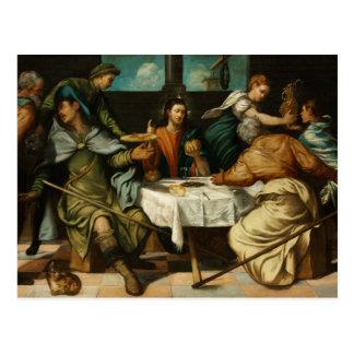 Tintoretto - das Abendessen bei Emmaus Postkarte