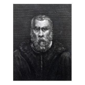 Tintoretto, graviert durch Delaistre Postkarte