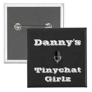 Tinychat Girlz Quadratischer Button 5,1 Cm