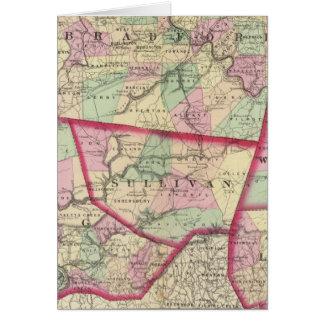 Tioga, Luzerne, Bradford, Sullivan, Wyoming Karte