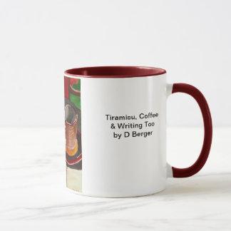 Tiramisu, Kaffee und auch schreiben Tasse