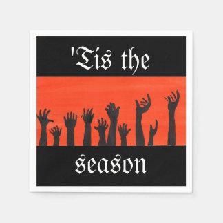 'Tis die Jahreszeit-Zombie-Serviette Papierservietten