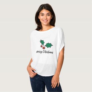 Tis die Jahreszeit, zum der Stechpalme zu tragen T-Shirt