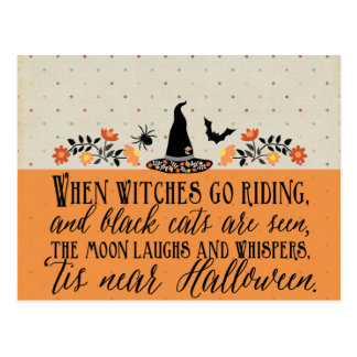 'Tis nahe Halloween-Postkarte Postkarte