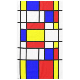 Tischdecke Mondrian Kunst-Art-buntes Muster