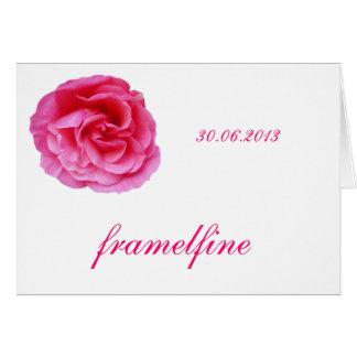 Tischkarte mit Rose