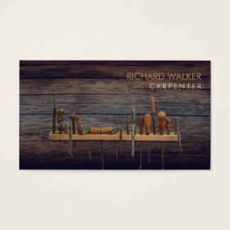 Tischler bearbeitet Holzarbeit-berufliches Visitenkarte