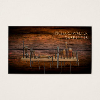 Tischler bearbeitet Holzbearbeitungs-berufliches Visitenkarte