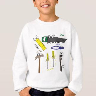 Tischler bearbeitet wunderliche Cartoon-Kunst Sweatshirt