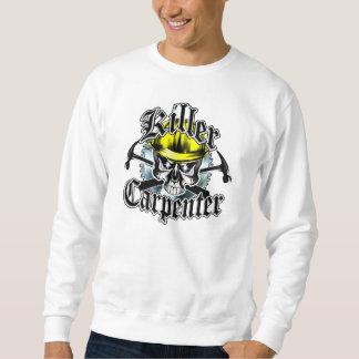 Tischler-Schädel und Hämmer: Mörder-Tischler Sweatshirt