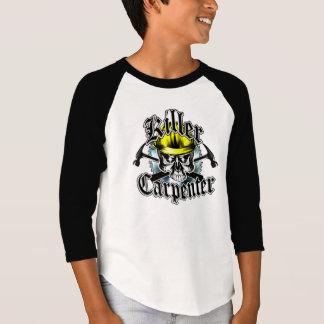 Tischler-Schädel und Hämmer: Mörder-Tischler T-Shirt