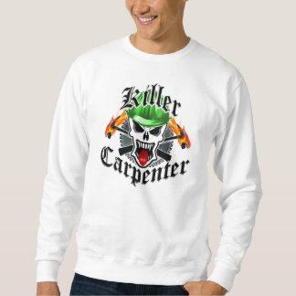 Tischler-Schädel und Schutzhelm: Mörder-Tischler Sweatshirt