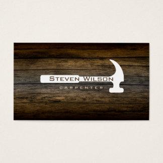 Tischlerwoodworker-berufliches Werkzeug-Holz Visitenkarte
