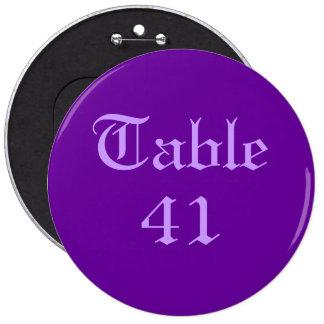 Tischnummer Anstecknadelbuttons