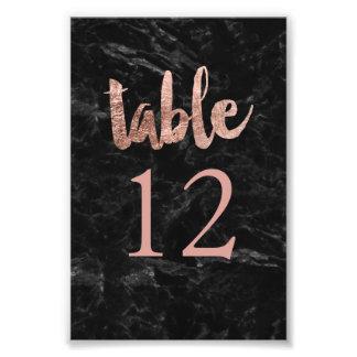 Tischnummer-Imitat-Rosengoldtypographiemarmor Kunst Photo
