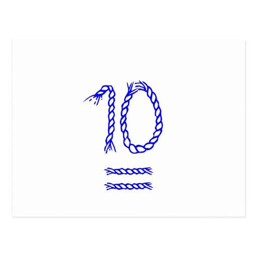 Tischnummer-Karten - Seemann-Knoten Postkarte