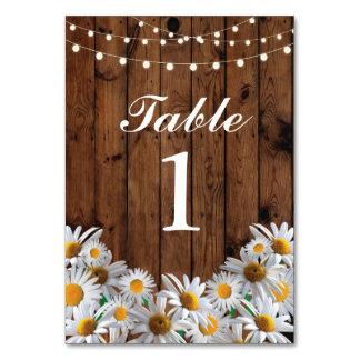 Tischnummern, die Gänseblümchen-Karten-Anzeige Karte