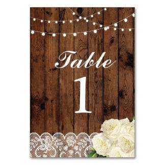 Tischnummern, die Spitze-Karten-Anzeige Wedding Karte