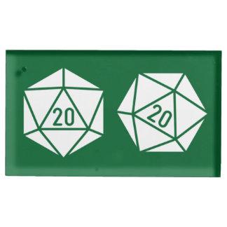 Tischplatte-Chic im grüne Tabellen-Karten-Stand