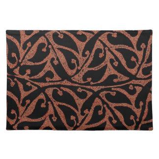 Tischset--Brown-Herz-geformtes Blatt-Muster
