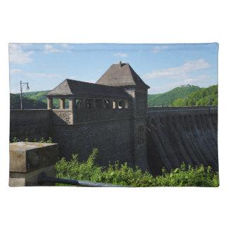Tischset Edersee Staumauer Turm