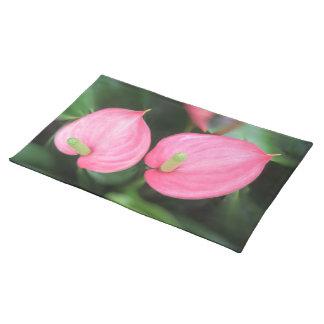 Tischset - rosa Blütenschweif-Zwillinge