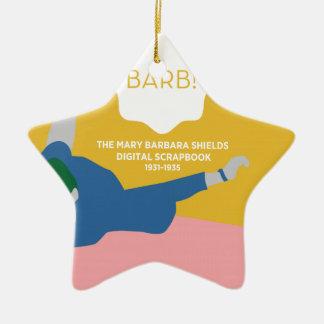Tischtennis Barb Keramik Stern-Ornament