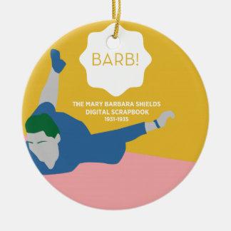 Tischtennis Barb Rundes Keramik Ornament