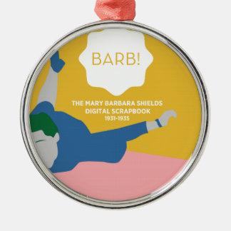 Tischtennis Barb Rundes Silberfarbenes Ornament